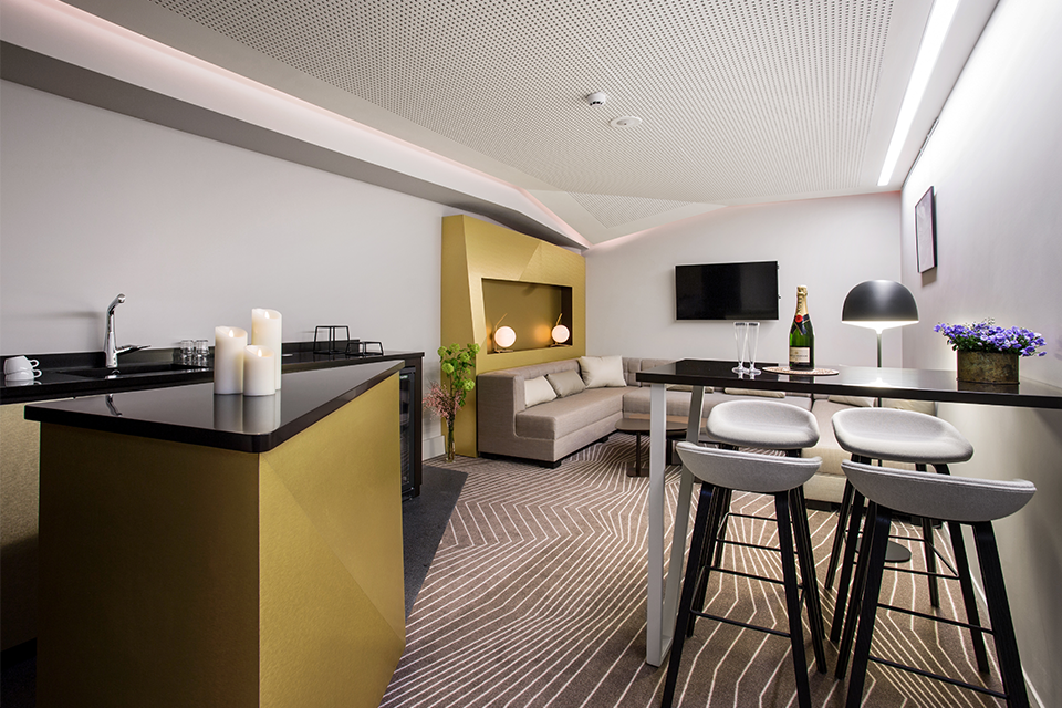 Loges vip agence ana s gauthier for Design hotels arena