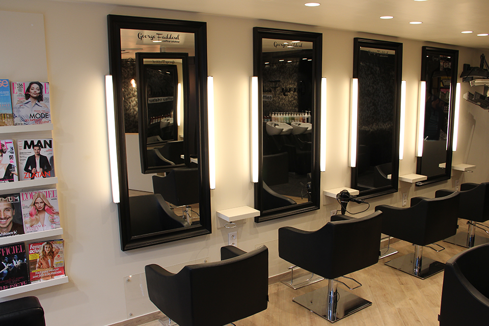 Salon de coiffure agence ana s gauthier for Amenagement salon en l